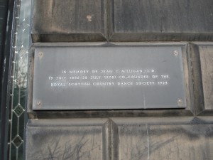 Plaque outside the building used for the RSCDS. - Copy