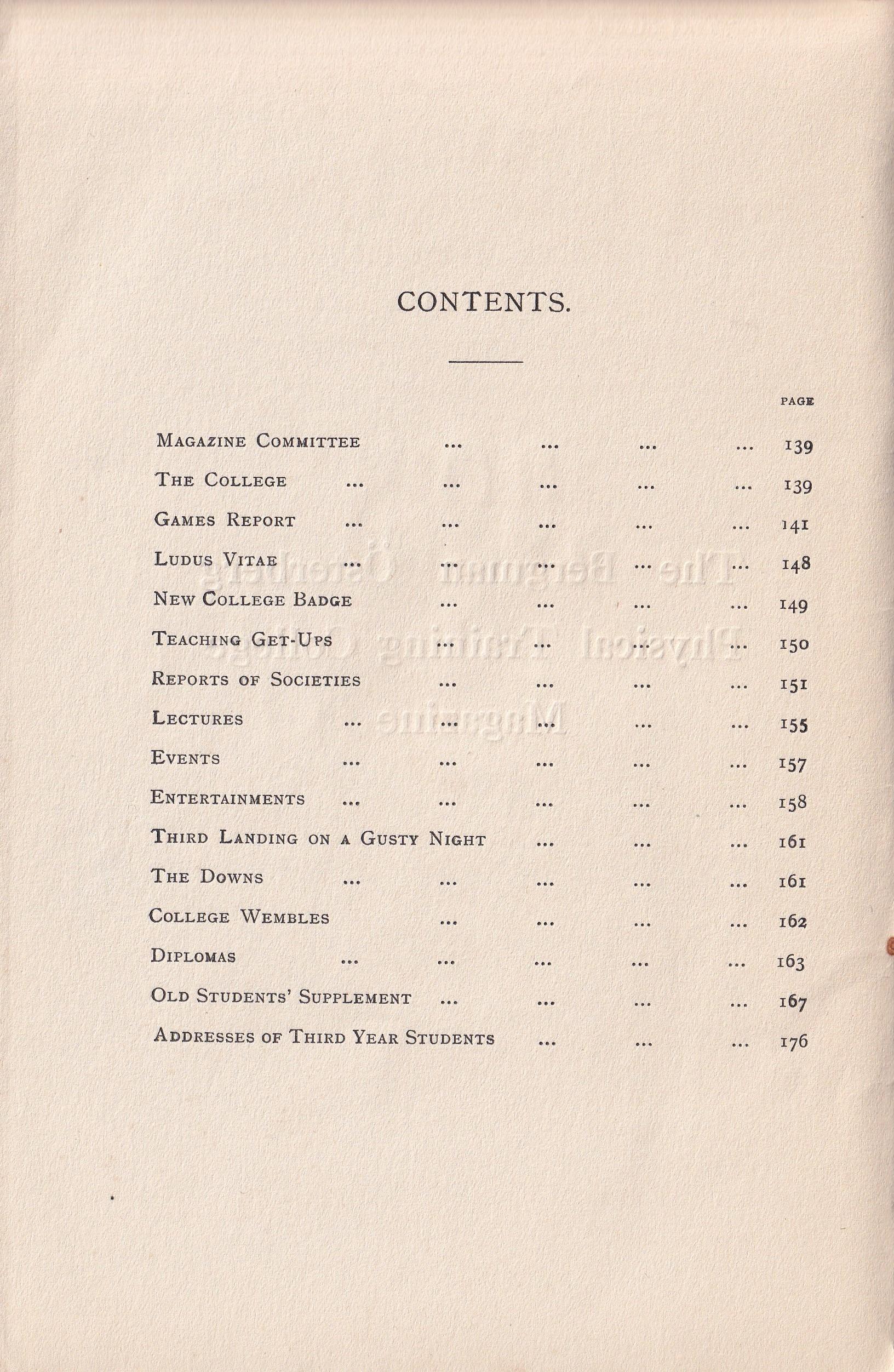 BOPTC 1924 Contents