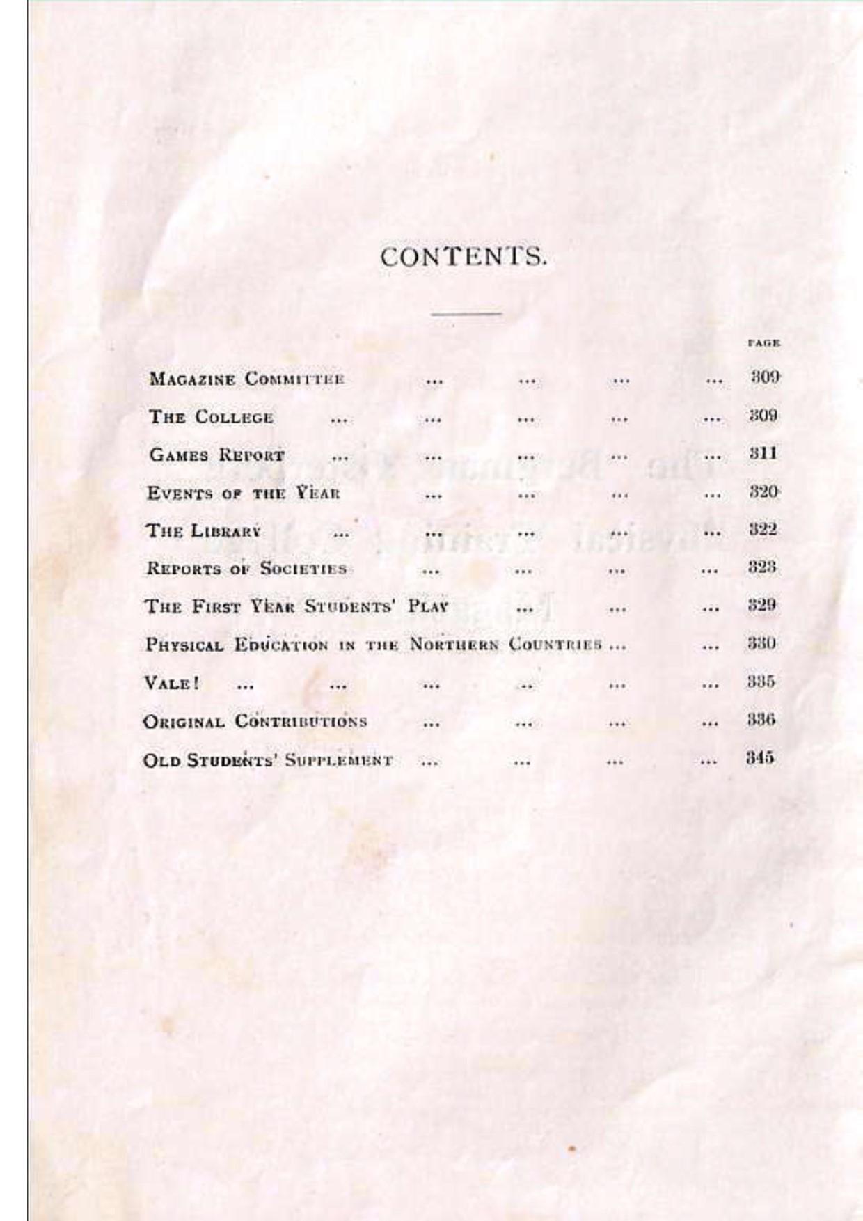 BOPTC 1928 Contents